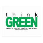 La salud mental piensa verde postal