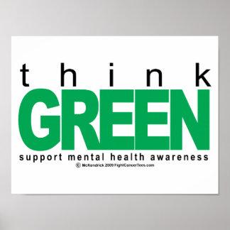 La salud mental piensa verde poster