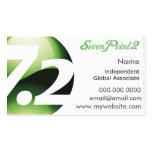 La salud SevenPoint2 hizo tarjetas de visita simpl
