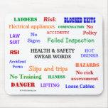 ¡La salud y la seguridad juran palabras y improper Alfombrillas De Ratón