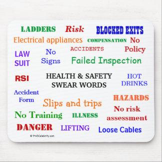 ¡La salud y la seguridad juran palabras y improper Tapetes De Raton
