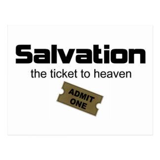 La salvación es el único boleto al cielo postal