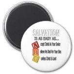 La salvación es fácil como ABC Imanes