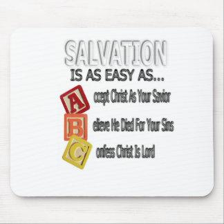 La salvación es fácil como ABC Alfombrilla De Raton