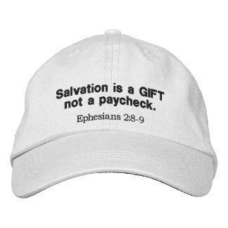 La salvación es un regalo no una cheque - gorras de beisbol bordadas