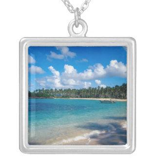 La Samana Peninsula, Dominican Republic, 2 Silver Plated Necklace
