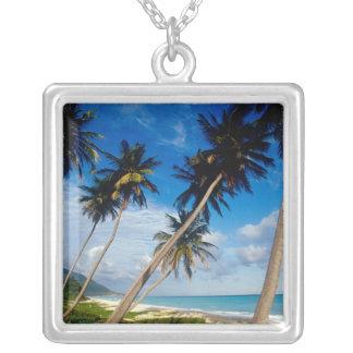 La Samana Peninsula, Dominican Republic, Silver Plated Necklace