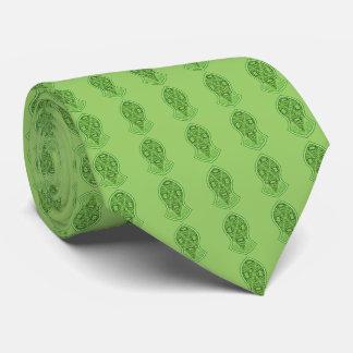 La sandalia del profeta (alheña) (verde) corbata personalizada