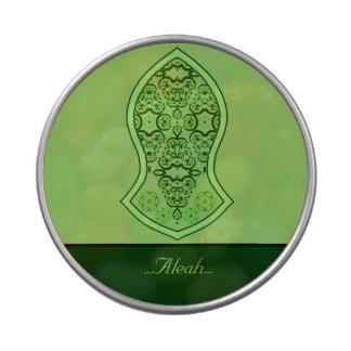 La sandalia del profeta (alheña) (verde) jarrones de caramelos