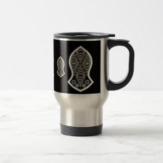 La sandalia del profeta (blanco) taza de viaje de acero inoxidable