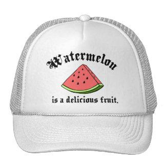 La sandía es una fruta deliciosa gorras