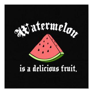 """La sandía es una fruta deliciosa invitación 5.25"""" x 5.25"""""""