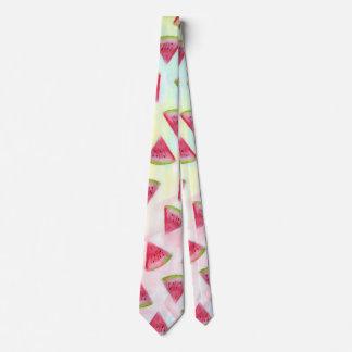 La sandía fresca de la acuarela corta el ejemplo corbata personalizada