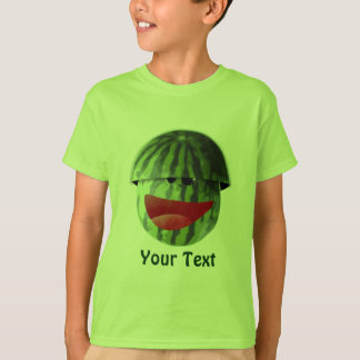 La sandía sonriente divertida embroma la camiseta