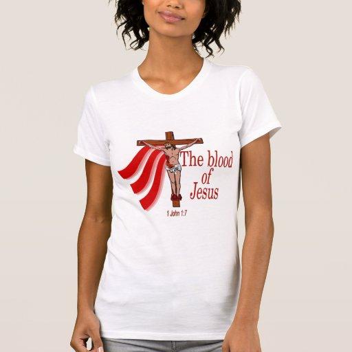 La sangre de Jesus1 Juan 17 Camisetas