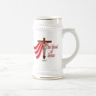 La sangre de Jesús Jarra De Cerveza