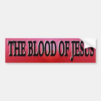 La sangre de la pegatina para el parachoques de Je Etiqueta De Parachoque