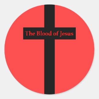 La sangre del pegatina de Jesús