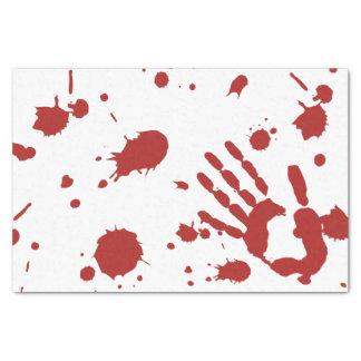 La sangre empapó la impresión sangrienta Halloween Papel De Seda Pequeño