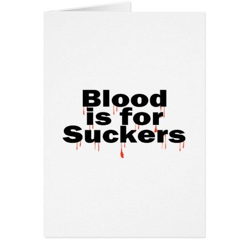 La sangre está para los lechones tarjeta de felicitación