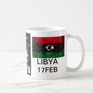 La sangre libia es la línea roja taza básica blanca