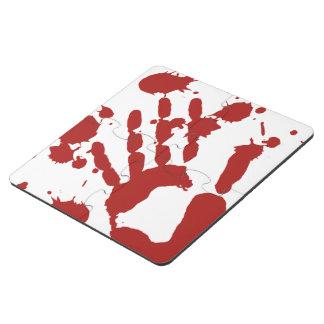 La sangre manchó los apoyos sangrientos de posavasos de puzzle