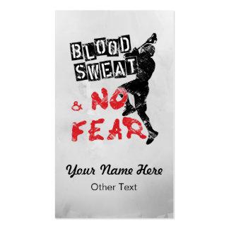 La sangre no sudó ninguna tarjeta de visita de