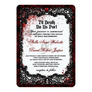 La sangre salpicó la invitación del boda de