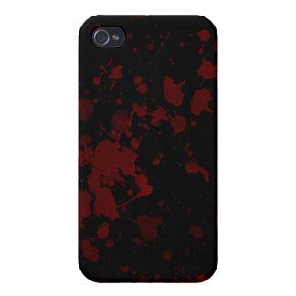 La sangre salpicó oscuridad iPhone 4 funda