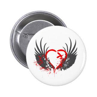 La sangre se va volando - Emo, roca, gótico, alter Pin Redondo 5 Cm