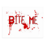 "La sangre verdadera ""me muerde "" postal"