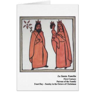 La Santa Familia Santo Card