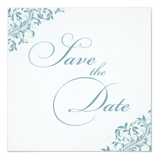La Sarah Jane azul/verde y blanco ahorra la fecha Anuncios Personalizados