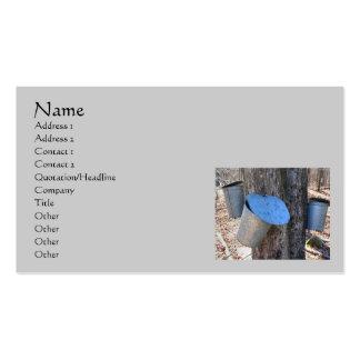 La savia del jarabe de arce Buckets la tarjeta de  Tarjetas De Visita