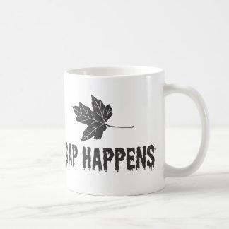 La savia sucede taza de café