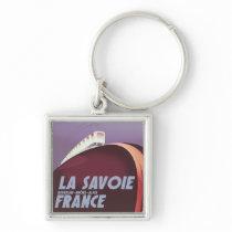 La Savoie Auvergne-Rhône-Alpes travel poster. Keychain