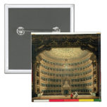 La Scala, Milan, during a performance 2 Inch Square Button