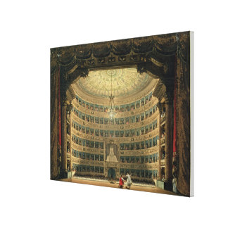 La Scala, Milan, during a performance Canvas Print