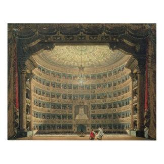 La Scala, Milan, during a performance Wood Wall Art
