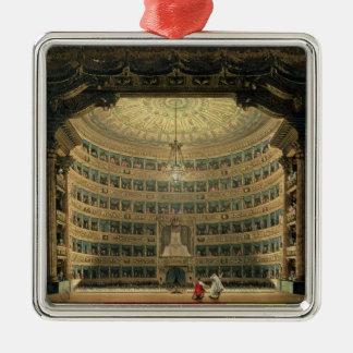 La Scala, Milan, during a performance Metal Ornament