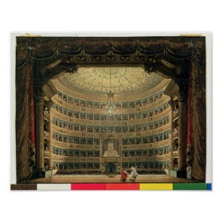 La Scala, Milan, during a performance Poster