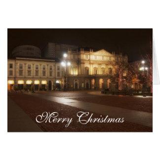 La Scala, Milan, Italy Christmas Greeting Card