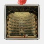La Scala, Milano, durante un funcionamiento Adorno