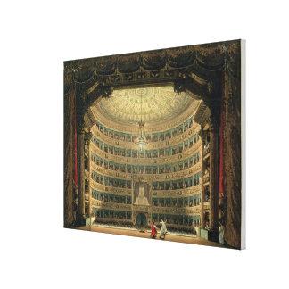 La Scala, Milano, durante un funcionamiento Impresión En Lienzo Estirada