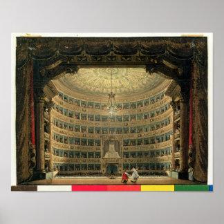 La Scala, Milano, durante un funcionamiento Posters