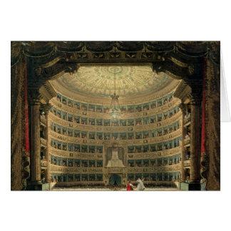La Scala, Milano, durante un funcionamiento Felicitaciones