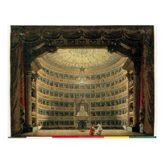La Scala, Milano, durante un funcionamiento Tarjetas Postales