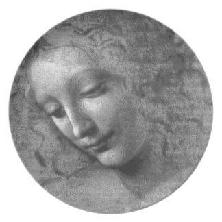 La Scapigliata by Leonardo da Vinci Dinner Plate