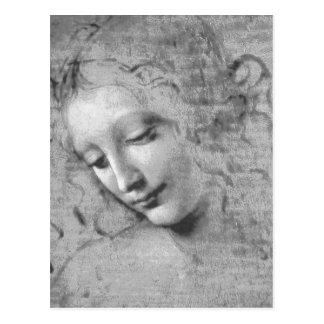 La Scapigliata by Leonardo da Vinci Postcard