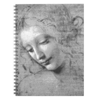 La Scapigliata de Leonardo da Vinci Spiral Notebook